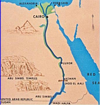 Асуанская плотина в Египте